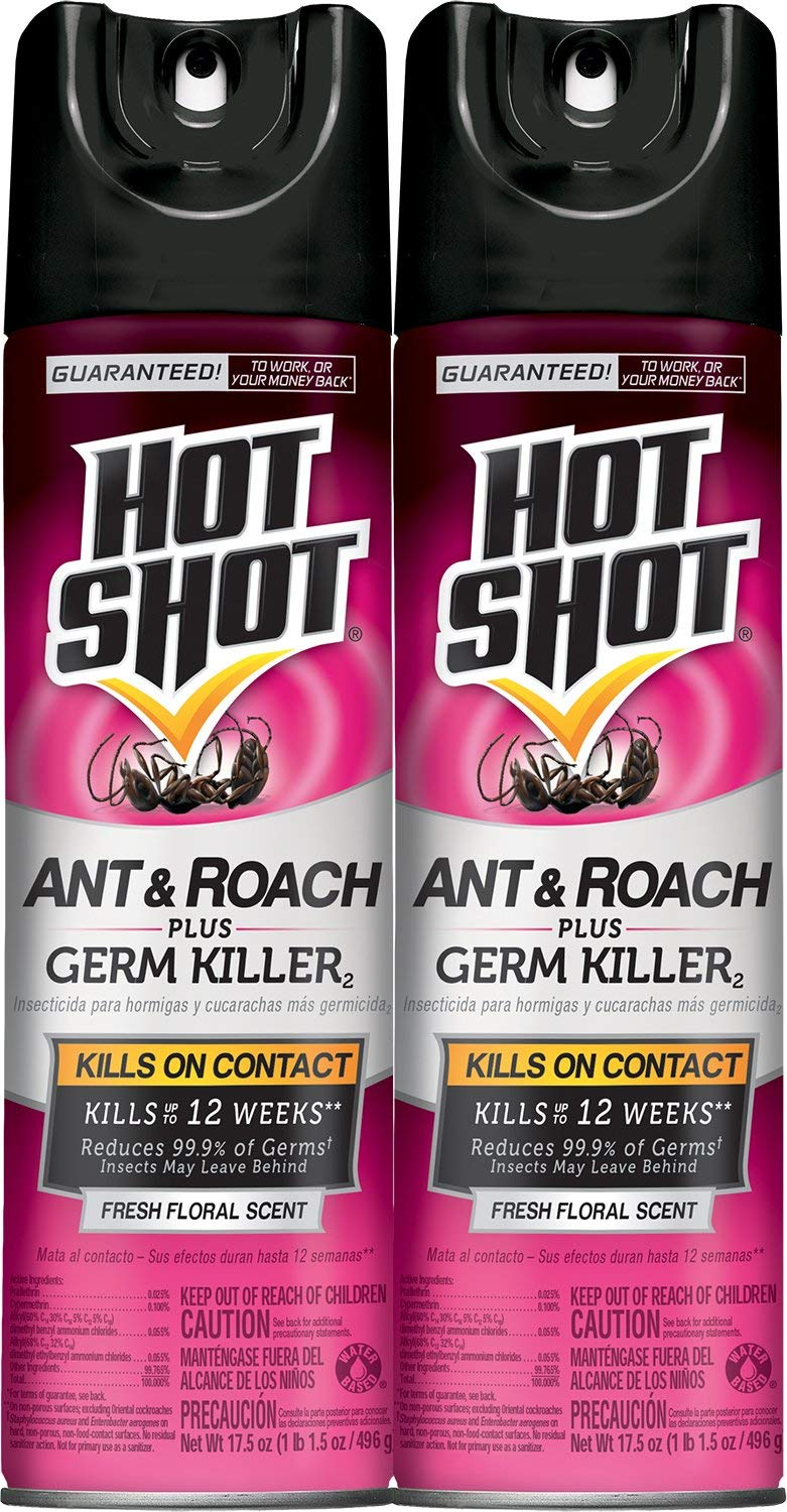 Hot Shot Ant & Roach Plus Germ Killer