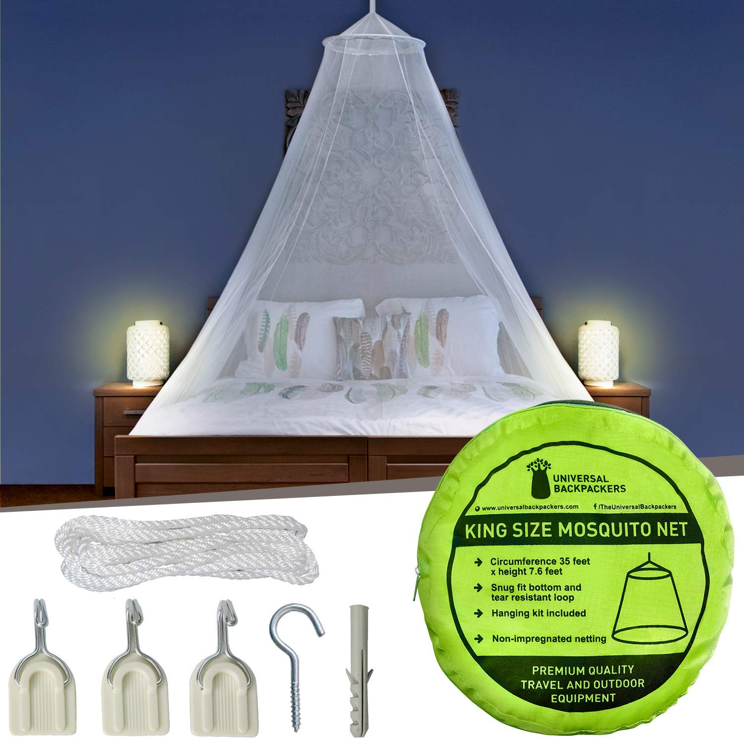 Universal Backpackers Mosquito Net