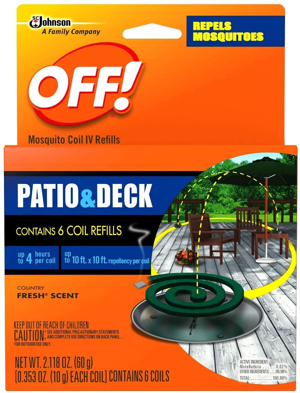 SC Johnson Patio & Deck Mosquito Coils
